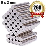260Pcs 6x2mm Refrigerator Magnets Small Magnets Push Pins Fridge...