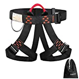 Oumers Enhanced Version Climbing Harness, Half Body Harness Safety Belt Rappelling Equip Well Suit Women Men Child for Indoor Rock Climbing School Assignment Expanding Training Tree Work