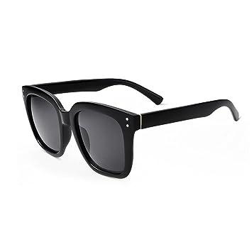 HONEY Sonnenbrille Für Herren Und Damen - Quadratischer Transparenter Rahmen - Reflektierend Objektiv ( Farbe : Grey lenses ) cQ2YKY4