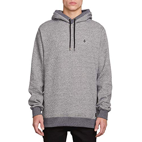 Volcom Men's Coder Pullover Hooded Fleece Sweatshirt, LTWT Vintage, Extra Large