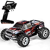 Distianert 1:18 Scale Electric RC Car Off Road 4WD High Speed 2.4Ghz Radio Control Monster Truck Rock Off-Road Vehicle Buggy Hobby with with 2 Rechargeable Batteries