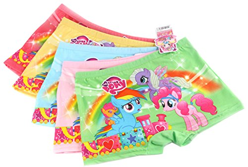 2e0b7b17a LEMONBABY My Little Pony Little Girls' Assorted Boxer Briefs (Pack Of 5) (