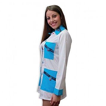 Fratelliditalia Camisas Corto para Mujer Algodón Trabajo coloniali Made in Italy 3 Colores por la XS A XXL