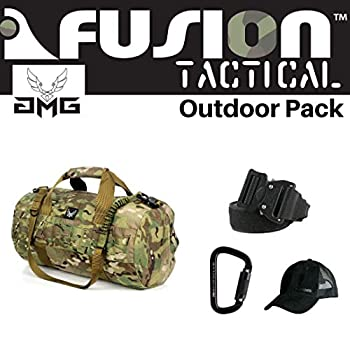 Image of Game Belts & Bags AMG & Fusion Outdoor Pack Multi-Cam, Great Carry-On Flight Approved Travel Bag, Outdoors, and on The Go, with Belt, Carabiner and Black Cap Included