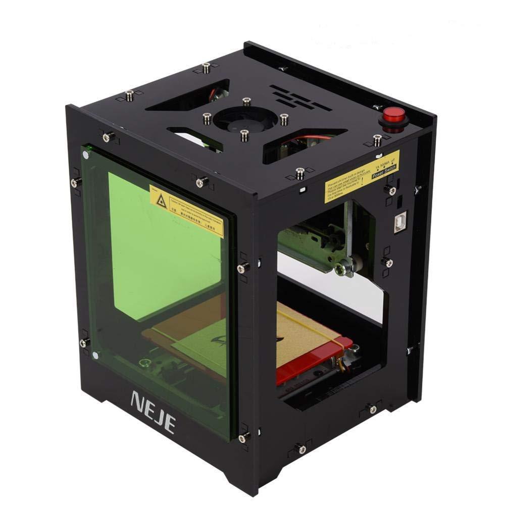 Qiilu Laser Graviermaschine 1500mw Laser Gravur USB Drucker Lasergravierer mit Augenschutz Magnetfolie fü r Win XP / 7/8 /10 / ios 9.0 / Android 4.0 und hö her