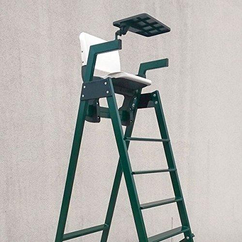 Chair Umpires Tennis (Vermont Aluminum Tennis Umpires Chair | 100% Weatherproof | Premium Aluminum Frame | HDPE Tip-Up Seat With Pivot Tray | Meets ITF Tournament Regulations | Supreme Durability)