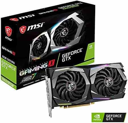 MSI Gaming GeForce GTX 1660 Super 192-bit HDMI/DP 6GB GDRR6 HDCP Support DirectX 12 Dual Fan VR Ready OC Graphics Card (GTX 1660 Super Gaming X)