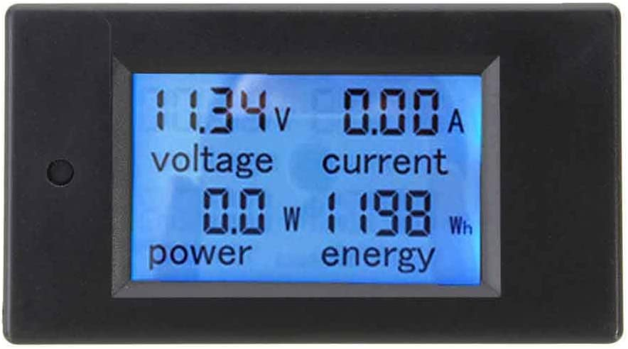 Energy LCD Screen. Analyser Amp Current Battery Monitor Solar Power 100A Digital DC Watt Meter 12v 24v 48v Voltage