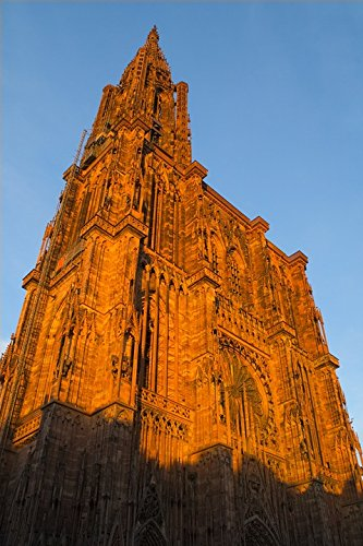 Home Comforts LAMINATED POSTER Münster France Sunset Alsace Evening Strasbourg Poster 24x16 Adhesive (Alsace Set)