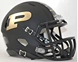 PURDUE BOILERMAKERS NCAA Riddell Revolution SPEED Mini Football Helmet (MATTE BLACK)
