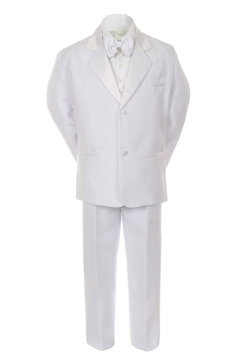 Recital Tuxedo Suit Set White Size 12 Month  to 18 Boys Baptism Ring Bearer