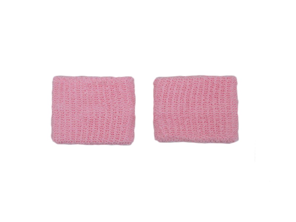 COUVER - Youth - Teenage - Pink Breast Cancer Awareness Sweat Affordable Wirstband - 2.7 inch x 2.3 inch - Light Pink - 1 pair