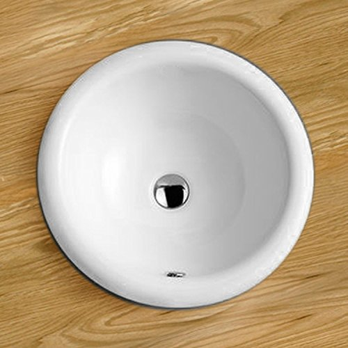 Clickbasin 42.0cm Diameter Como Round Counter Inset Hand Basin Sink
