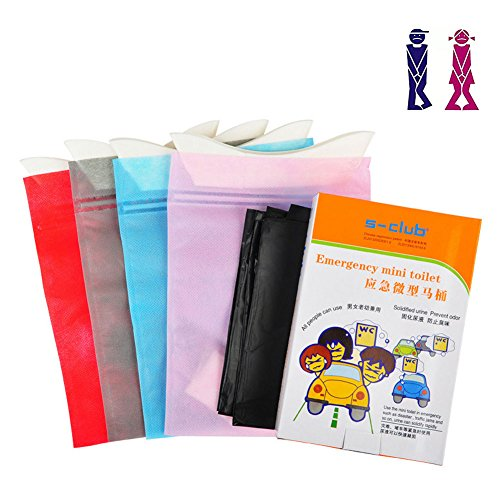 Dsaren Disposable Urine Bag Large Capacity Emergency Vomit Bags Pee Bags with for Patient, Pregnant Woman, Kids and Men Outdoor Travel Use, Pack of 8