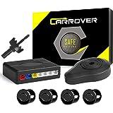 CAR ROVER® Auto inversione di sostegno Sensore Di Parcheggio Kit 4 sensori radar con Buzzer Allarme(nero)