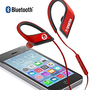 Panasonic WINGS Wireless Bluetooth In Ear Earbuds Sport Headphones with Mic + Controller RP-BTS30P1-R (Victory Red), IPX4 Water Resistant, Spartan Limited Edition