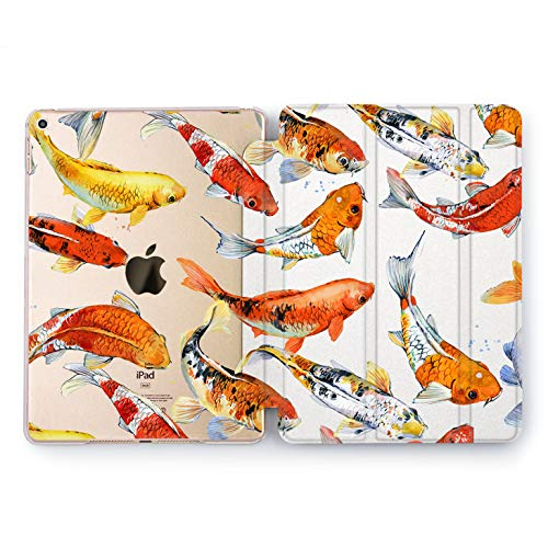 Wonder Wild Coy Fish Pond iPad Case 9.7 Pro inch Mini 1 2 3 4 Air 2 10.5 12.9 2018 2017 Design 5th 6th Gen Clear Print Smart Hard Cover ()