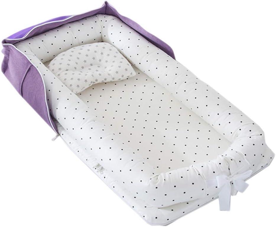 TEALP Baby Nest Riduttore Per Letto Culla Paracolpi Multifunzionale Nido lettino da viaggio animale blu