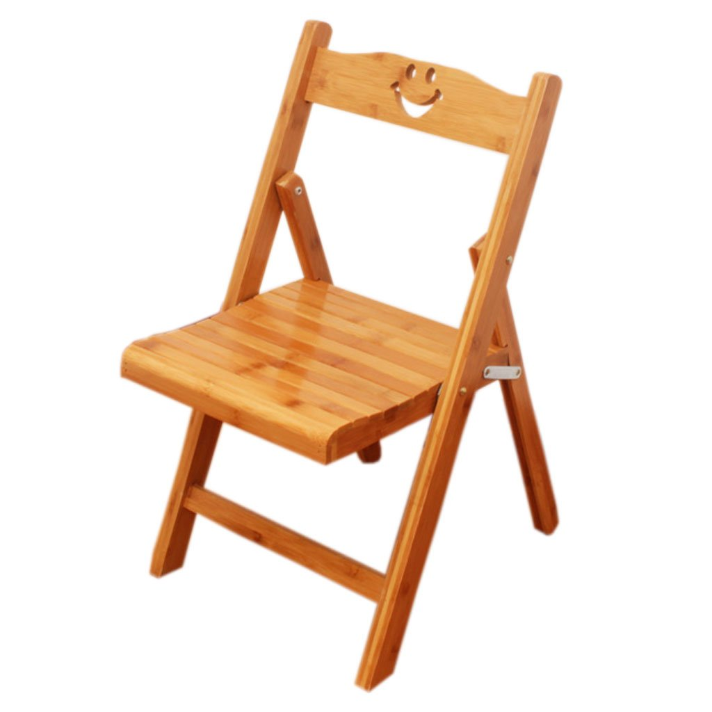 Small Folding Chair, Solid Wood Stool Chairs Child Household with No Need To Install A Small Stool (Color : A)