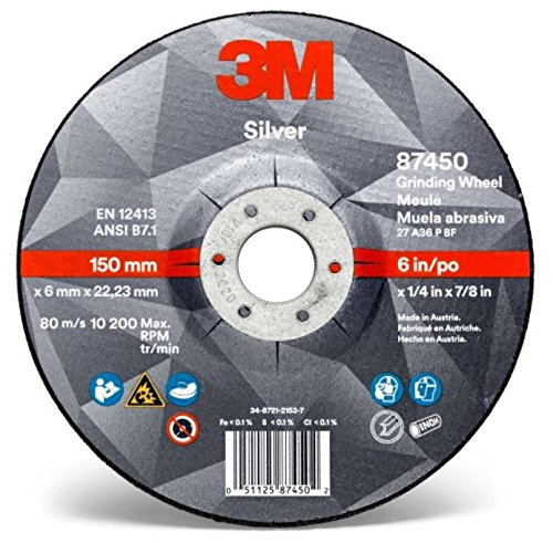 3M Silver Depressed Center Grinding Wheel 87455, T27 4