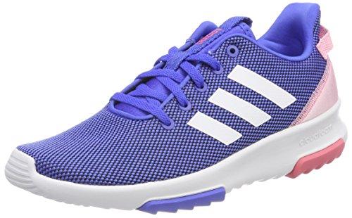 adidas Mädchen Cloudfoam Racer TR Sneaker Blau (Hi-Res Blue/Footwear White/Light Pink)