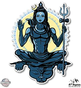 GT Graphics Lord Shiva Vinyl Sticker Waterproof Decal