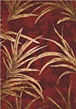 """Cheap Milliken TOP 30 Tropic Area Rug Russet/3'10"""" x5'4/Rectangle/Nylon/Red"""