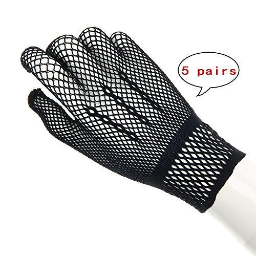 Kinandpri Nylon mesh Wedding Bridal Gloves,Black