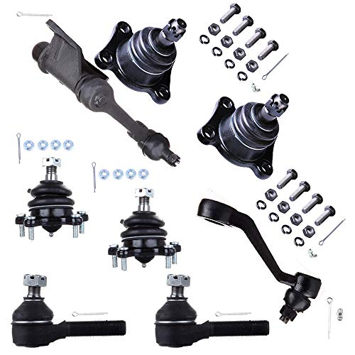 Scitoo 8pcs Suspension Kit 2 Upper 2 Lower Ball Joint 2 Outer Tie Rod End 1 Pitman Arm 1 Idler Arm fit Toyota 4Runner Pickup T100 1989 1990 1991 1992 - Pitman Arm Pickup