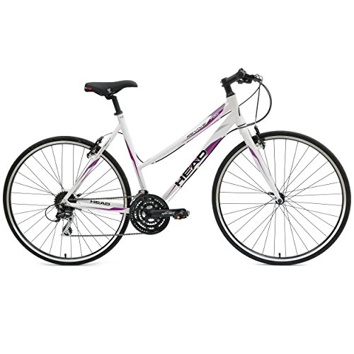 Head Revive L 700C Hybrid Road Bicycle, White, 21-Inch/Large