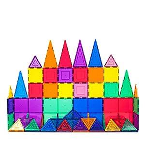Best Epic Trends 516RkHTGS9L._SS300_ PicassoTiles 60 Piece Set 60pcs Magnet Building Tiles Clear Magnetic 3D Building Blocks Construction Playboards…