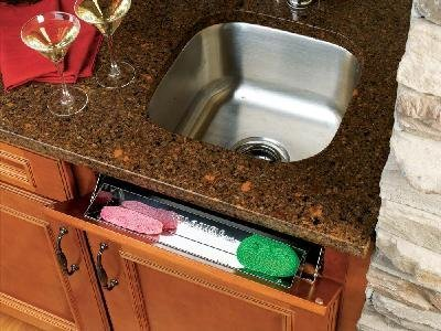 Rev-A-Shelf 6581 Series - Sink Front Tip-Out Trays-Stainless Steel