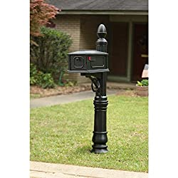 Gibraltar Mailboxes Stratford Mailbox & Post Combination In Black By Gibraltar Mailboxes