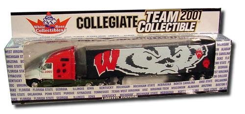 (University of Wisconsin Badgers 2001 Limited Edition Die-Cast 1:80 Tractor-Trailer Semi Truck Collectible)