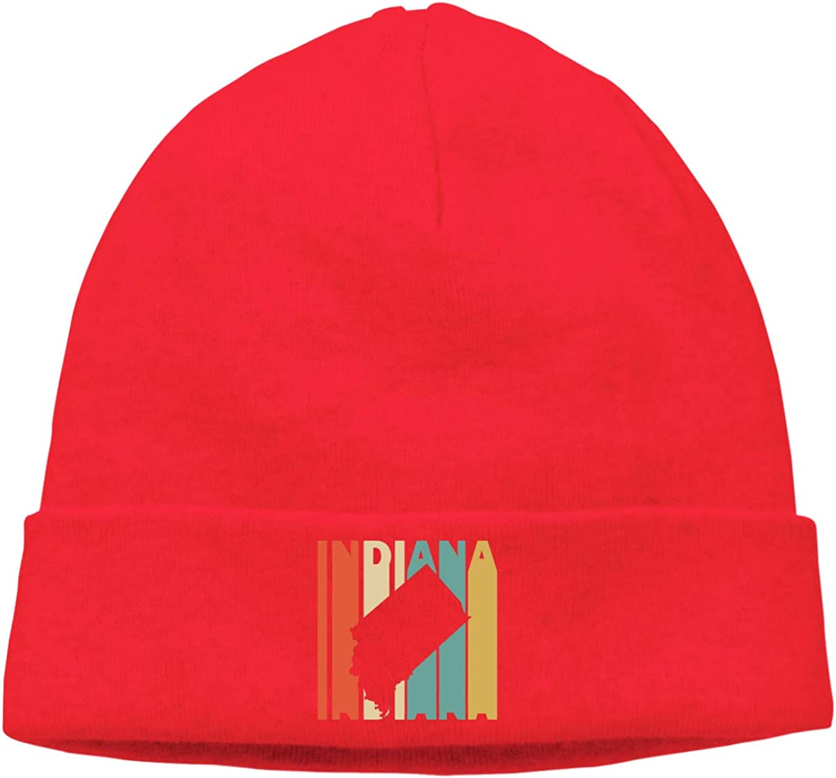 Soft Retro Style Indiana Silhouette Ski Hat for Mens Womens Unisex Knit Hat