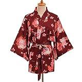 Double Villages Unisex Kimono Coat Japanese Kimono Robe Cosplay Kimono Cover up