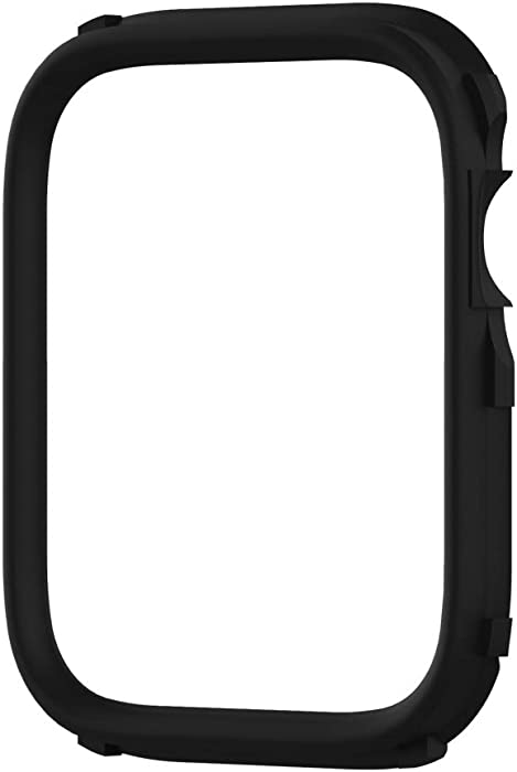 RhinoShield CrashGuard NX Extra Rim [ONLY] Compatible with Apple Watch SE [40mm] & Series 6/5 / 4 [40mm] & Series 3/2 / 1 [38mm] | Additional Accessory for RhinoShield Apple Watch Case - Black