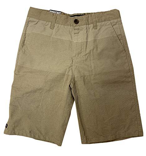 (Micros Boy's Stretch Cotton Shorts (Sand Stripes, 12))