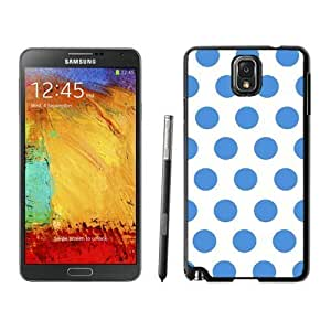 Elegant Samsung Galaxy Note 3 Case Polka Dot White and Blue Soft TPU Silicone Black Phone Cover Speck