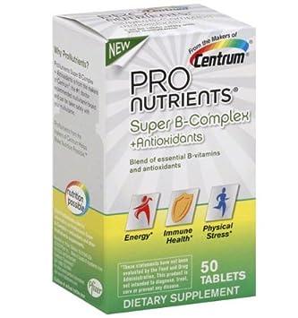 Centrum ProNutrients Super B-Complex Plus Antioxidants -- 50 Tablets