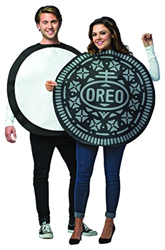 Funny 2 Person Halloween Costume Ideas (Rasta Imposta Oreo Couples Adult Costume, One)