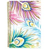 """bloom daily planners 2019 Calendar Year Day Planner - Passion/Goal Organizer - Monthly and Weekly Dated Agenda Book - (January 2019 - December 2019) - 6"""" x 8.25"""" - Peacock Feathers"""