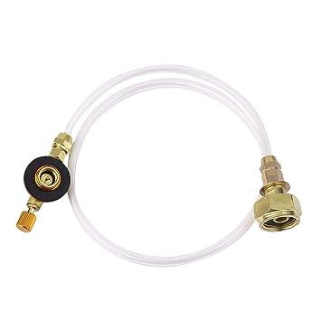 Delicacydex Estufa de Gas doméstica estándar Alemana Tanque de Gas a Cilindro Plano Accesorios de válvula