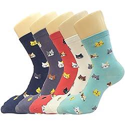 Pack of 5 Fun Cats Crew Socks