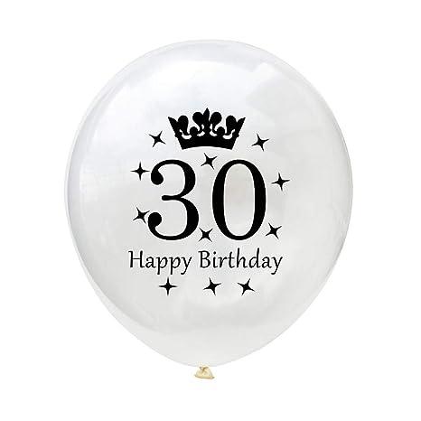 Globo blanco con edad de cumpleaños, decoración para fiestas ...