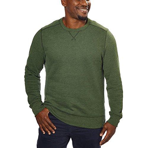 G.H. Bass Mens Crew Neck Sweatshirt (L, - Logo Green G With