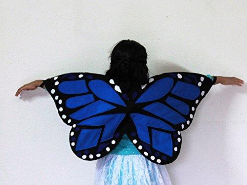 [Butterfly Wings - Monarch Butterfly Costume - Felt butterfly wings] (Blue Monarch Butterfly Costume)