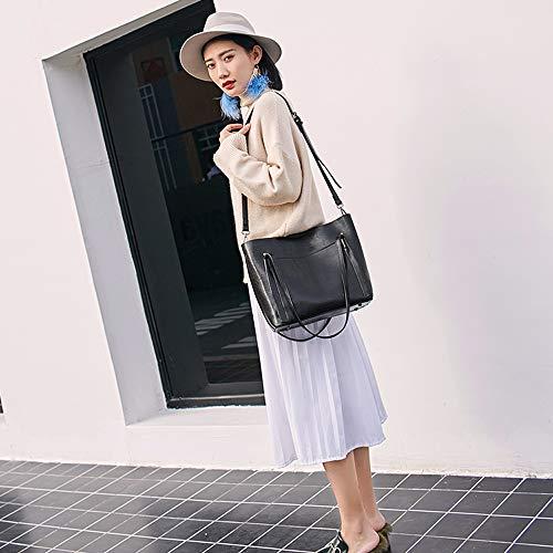 européenne capacité et Bag grande à épaule Sac main couleurs porte quatre américaine Mezzanine Messenger documents glissière ouverture Noir Mesdames à xXwq0qY8z