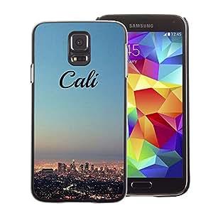 A-type Arte & diseño plástico duro Fundas Cover Cubre Hard Case Cover para Samsung Galaxy S5 (California Skyline City La Los Angeles)
