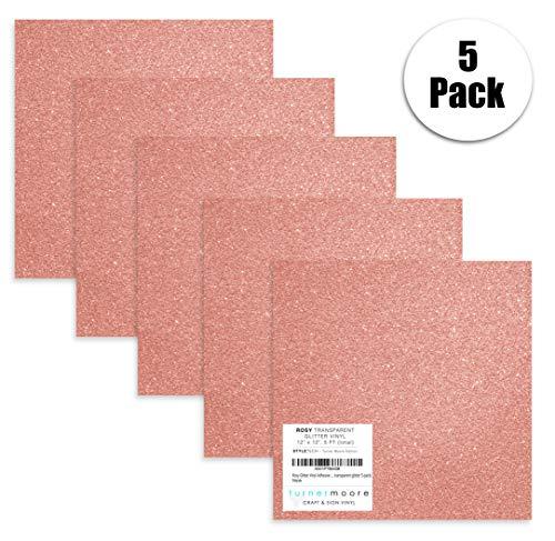 Turner Moore Edition, Pink Glitter Vinyl Adhesive - 12